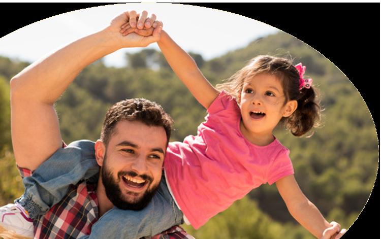 Mann mit Kind – Lerntherapie Volketswil